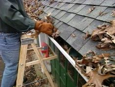 Cleaning Gutters - a fall maintenance must-do