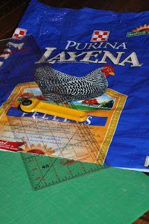 DIY: Chicken Feed Sack Tote -- Community Chickens