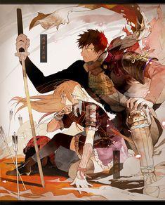 Clara and Ash Kawaii Anime, Manga Art, Manga Anime, 3d Fantasy, Anime Love Couple, Manga Couple, Anime Kunst, Ecchi, Animes Wallpapers