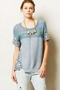 Chandail t-shirt jaspé - anthropologie.com