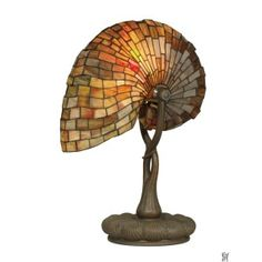 RED NAUTILUS TIFFANY TABLE LAMP