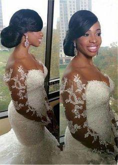 Robe de mariée traine avec manche perle epaule écrite naturel - photo 4