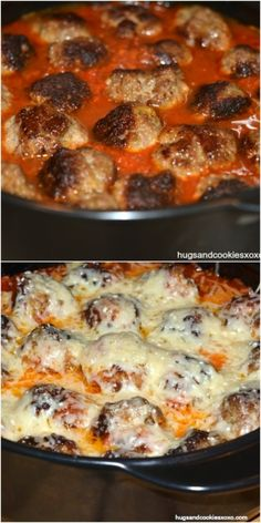 If you love meatballs, then you need to make this. Like now! Such an easy dish yet so outrageously packed with flavor. Even my oldest son ate this and that speaks volumes! I melted freshly grated parmigiano-reggiano on top but you can use any shredded cheese you like. I used my rockcrok pot from Pampered …