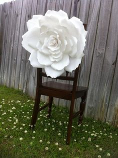 Bride & Groom Wedding Chair Decor  Large Paper by ThriftyChicLove, $70.00