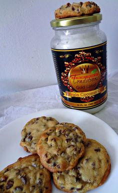 The Cooking Actress: Chewy Chocolate Chip Cookies + Tropical Traditions Gold Label Virgin Coconut Oil + A GIVEAWAY!(CLOSED)