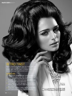 """The magazine caption ends with them having used """"John Frieda Luminescent Volume Thickening Hairspray."""" yeah right."""