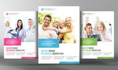 Medical Health Care Flyer Template by Business Templates on Creative Market
