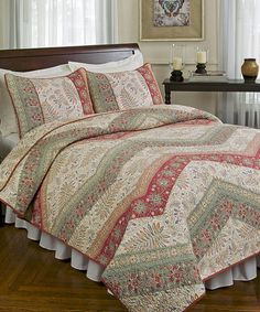 Look what I found on #zulily! Nina Quilt Set by Hedaya Home Fashions #zulilyfinds / Twin $74.99 / Full/Queen $89.99 / King $99.99