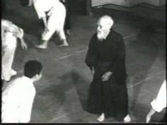 """Aikido - Morihei Ueshiba - Way of Harmony - Video of O-Sensei, founder of Aikido, near the end of his life age Honolulu Aikikai Grand Opening. I love the randori scene. I also love that they show him working with women, and of course the weapons scenes. Aikido Martial Arts, Self Defense Martial Arts, Martial Artists, Judo, Taekwondo, Tai Chi, Jiu Jitsu, Kung Fu, Karate"