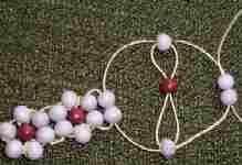 Resultado de imagen de náramek z korálků kytičky návod
