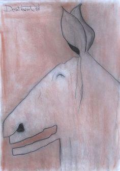 Laughing Donkey, Pastel, Pat Douthwaite - The Scottish Gallery, Edinburgh - Contemporary Art Since 1842 Donkey, Edinburgh, Laughing, Contemporary Art, Pastel, Paintings, Gallery, Artist, Cake