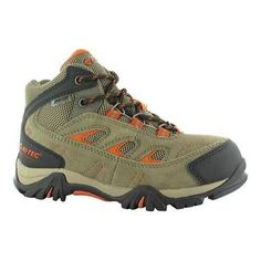 Boys' Hi-Tec Logan Waterproof Hiking Boot Smokey /Red Rock
