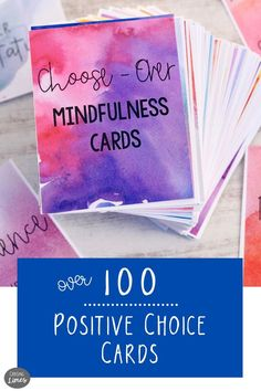 Over 100 Choose Over Cards to Encourage Mindfulness and Intentions Over 100 Choose Over Cards to Encourage Mindfulness and Intentions Wendy C Baker wendybaker Chasing Limes Shop For Mindfulness 038 nbsp hellip Motivational Cards, Inspirational Message, Inspiring Messages, Lunch Box Notes, Meaningful Conversations, Choose Joy, Yoga Teacher Training, Writing Prompts, Limes