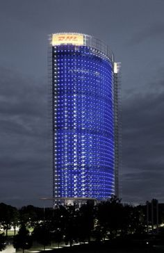 Post Tower, Bonn, Germany by Murphy/Jahn.