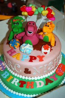 Barney birthday cake The Sweet Life Dugger In Pinterest
