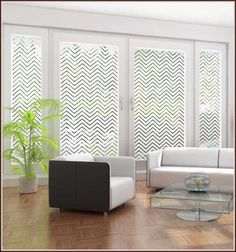 Modern Chevron Frost Glass Window Film Adhesive-free Contemporary ...