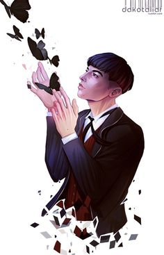 Absolutely amazing Fantastic Beasts fan art!  Glad the artist put their signature in the corner as I don't know where the original link is.  Credence... oh I want to hug you and then go absolutely murder that awful women.  Again.
