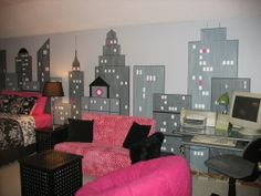 fashion new york room...would be cute for a girl's room