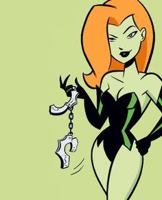 Poison Ivy in Gotham Girls Poison Ivy Cartoon, Dc Poison Ivy, Poison Ivy Dc Comics, Harley Quinn Comic, Joker And Harley, Back In The 90s, Gotham Girls, Cartoon Tv Shows, Batman Art