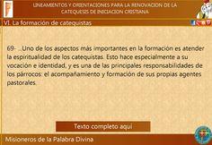 MISIONEROS DE LA PALABRA DIVINA: CAMINANDO HACIA EL DIRECTORIO CATEQUÍSTICO…