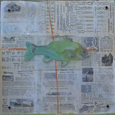 """""""Caught II"""" by Katherine McClure, 12 x 12, mixed media on cradled wood with acrylic panel, $285, Atlanta Artist Collective"""