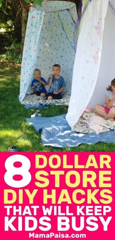 I was looking for some kids activities and came across these awesome hacks that you can use from Dollar Store items. My kids will never be bored again! kids summer activities 8 Dollar Store Hacks that will Keep your Kids Busy Dollar Store Hacks, Astuces Dollar Store, Dollar Stores, Summer Fun For Kids, Summer Diy, Diy For Kids, Summer Daycare, Kids Fun, Pbs Kids