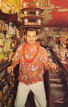Stanley the Great at the Tahitian Bar in the Castaways Motel Miami