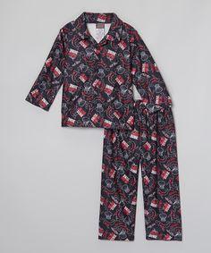 Loving this Red & Black 'Slam Dunk' Pajama Set - Infant, Toddler & Boys on #zulily! #zulilyfinds