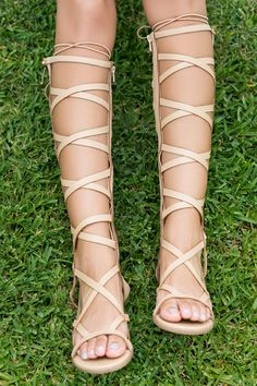 Moses Gladiator Sandals (Nude) | Lilly's Kloset