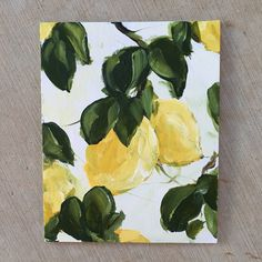 I really want to make a lemon painting Small Canvas Art, Mini Canvas Art, Painting Inspiration, Art Inspo, Lemon Painting, Pineapple Painting, Simple Oil Painting, Arte Indie, Arte Sketchbook