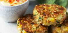 Salmon Fritters with Sweet Chilli Mayonnaise
