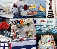 Nautical themed wedding decor.