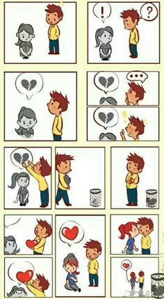 Love story is a very romantic and sad story about a rich Harvard boy and a smart Redcliff girl. Their love conquered all obstacles, but they finally stumbled. Sad Comics, Comics Story, Short Comics, Cute Comics, Funny Comics, Amor Panda, Cute Stories, Comic Strips, Love Story