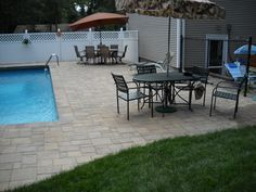 Time to relax on a paver pool deck