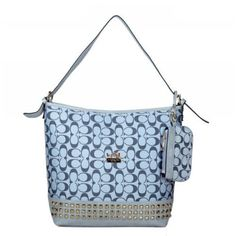 Coach Legacy Duffle In Stud Signature Medium Grey Shoulder Bags BDH Give You The Best feeling! Coach Handbags Outlet, Coach Purses, Purses And Bags, Coach Outlet, Cheap Designer Handbags, Cheap Handbags, Coach Tennis Shoes, Coach Shoulder Bag, Shoulder Bags