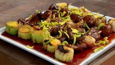 Sprouts, Beef, Vegetables, Food, Meat, Essen, Vegetable Recipes, Meals, Yemek