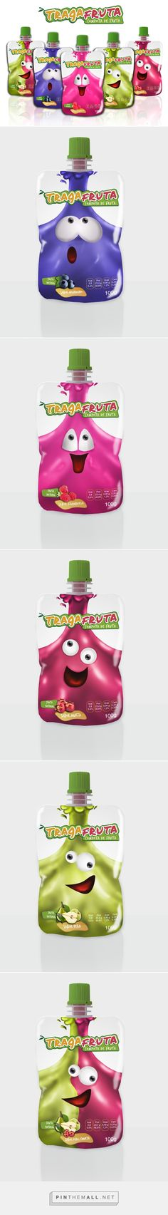 Tragafruta fruit juice on Behance by Natalia Trivelli curated by Packaging Diva PD. Your daily packaging smile : )