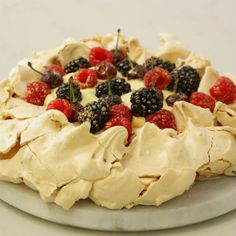 Pavlova wreath | Woolworths.co.za Pavlova, Heavenly, Sweets, Wreaths, Cakes, Baking, Desserts, Recipes, Food
