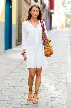 Outfit :: Tunic Dress & Gladiator Sandals