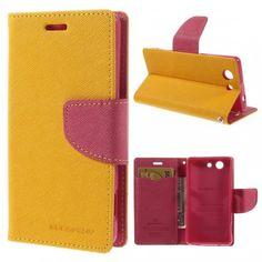 Sony Xperia Z3 Compact Keltainen Fancy Suojakotelo  http://puhelimenkuoret.fi/tuote/sony-xperia-z3-compact-keltainen-fancy-suojakotelo/
