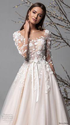 Illusion Neckline Wedding Dress, Sheer Wedding Dress, Weeding Dress, Top Wedding Dresses, Bridal Dresses, Bridesmaid Dresses, Wedding Dresses For Guests, Sleeved Wedding Dresses, Types Of Wedding Gowns