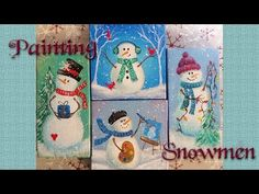 Easy Snowman Ornaments | Acrylic Painting Tutorial | Free Live Event - YouTube