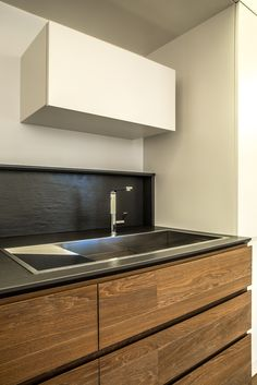 Kitchen details. Apartment renovation in Milan by +R / www.piuerre.com / photo by Alberto Canepa / www.albertocanepa.com / #apartment #renovation #interior #custom #furniture #living #lighting #interior  #foster #kitchen #trapa #wood #stone