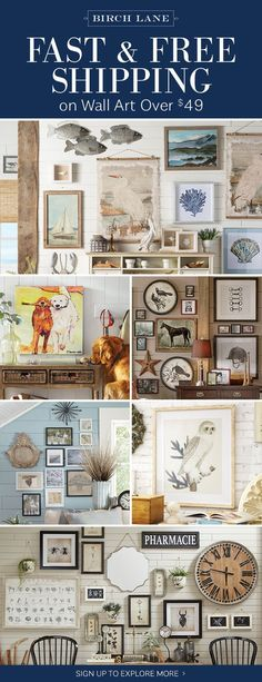 Wall art at birchlane.com! Sign up to find out more about FREE SHIPPING on all orders over $49! #homedecor #decoration #decoración #interiores