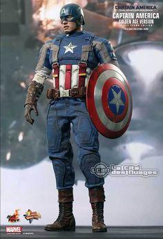 Hot Toys Captain America Le Soldat de l'Hiver Captain America (Golden Age Version) 12 31cm