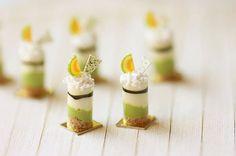 Miniature Food - Melon Mousse Dessert 1/12 Dollhouse Miniature Scale