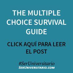 The multiple choice survival guide ►► http://seruniversitario.com/the-multiple-choice-survival-guide/ #SerUniversitario