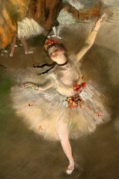 Edgar Degas, Impressionist. I do love all of his ballerinas and WILL paint one someday for my Liliana