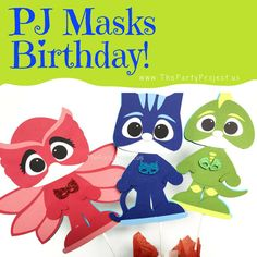 It's time to be a hero! And throwing an unforgettable party is your new Mission! ----  Show off your super decorating skills to set a super birthdaywith our exclusive handmade PJMASKS Party supplies! Withthe PJ Masks crew of Catboy, Owlette, and Gekko, ready for action andour selection of Pjmasksparty decorations, yourlittlesuperhero will have a blast atthis superparty! ---- Shop www.thepartyproject.us