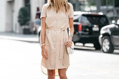 Fashion Jackson, Dallas Blogger, Fashion Blogger, Street Style, Rachel Parcell Everyday Shirtdress, Aquazzura Sexy Thang Heels, Celine Trotteur White Crossbody